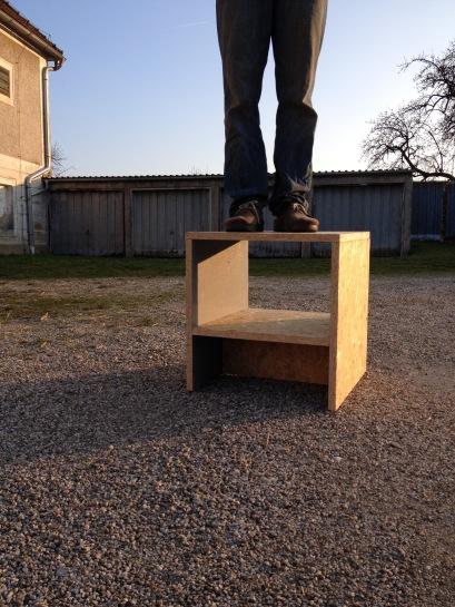 Erste Möbel- Prototypen